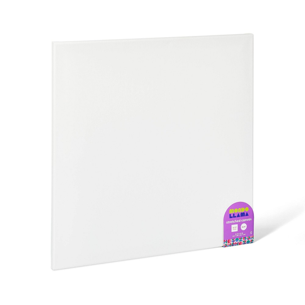 18 34 X18 34 Streched Canvas White Mondo Llama 8482