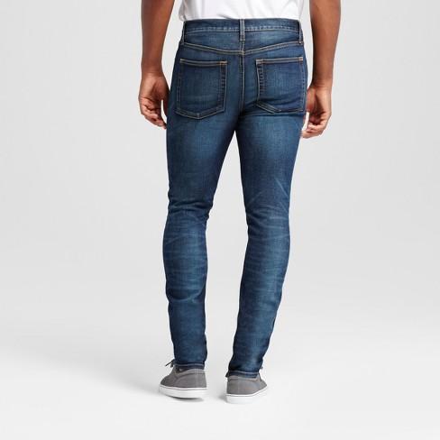 ef8e4a11 Men's Slim Fit Jeans with Destruction - Goodfellow & Co™ Dark Wash 34x34 :  Target