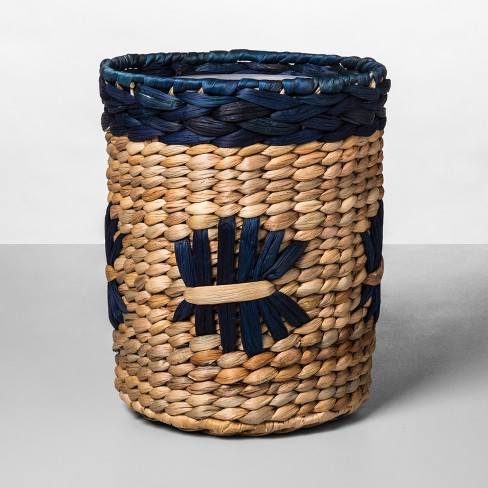 Woven Pattern Bathroom Wastebasket Natural/Blue - Opalhouse™ - image 1 of 1