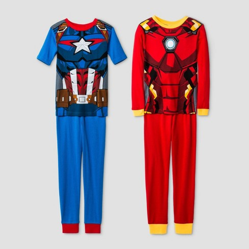 Avengers Marvel Captain America size 4 5 6 7 8 Sleepwear 2 Pc Pajamas Set New