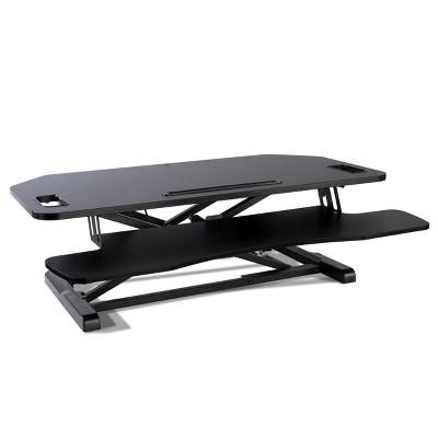 Adjustable Height Extra Large Standing Desk Converter Black - Atlantic