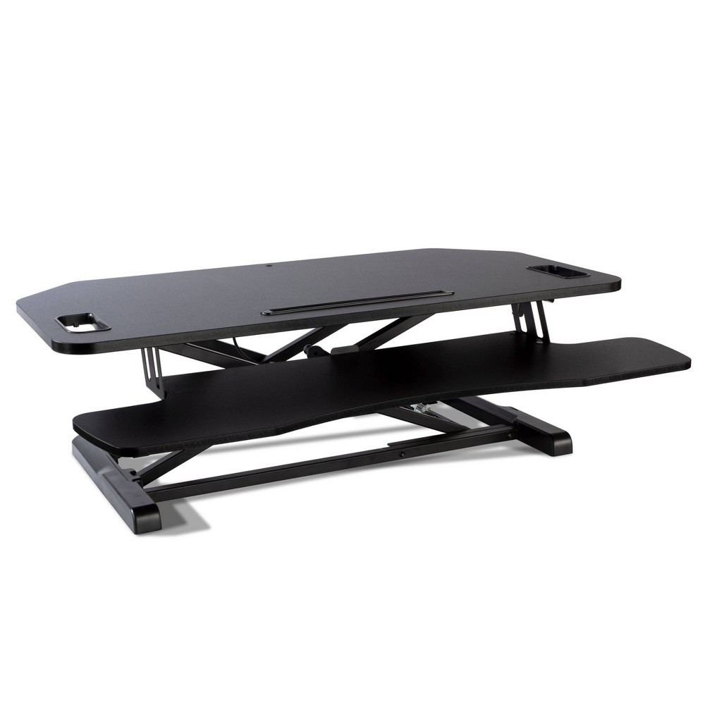 Image of Adjustable Height Extra Large Standing Desk Converter Black - Atlantic