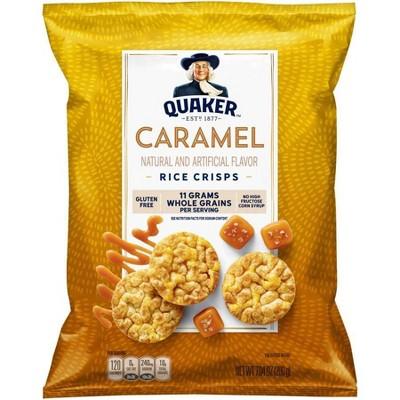 Quaker Rice Crisp Caramel - 7.04oz