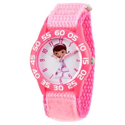Girls' Disney Doc McStuffins Pink Plastic Time Teacher Watch - Pink