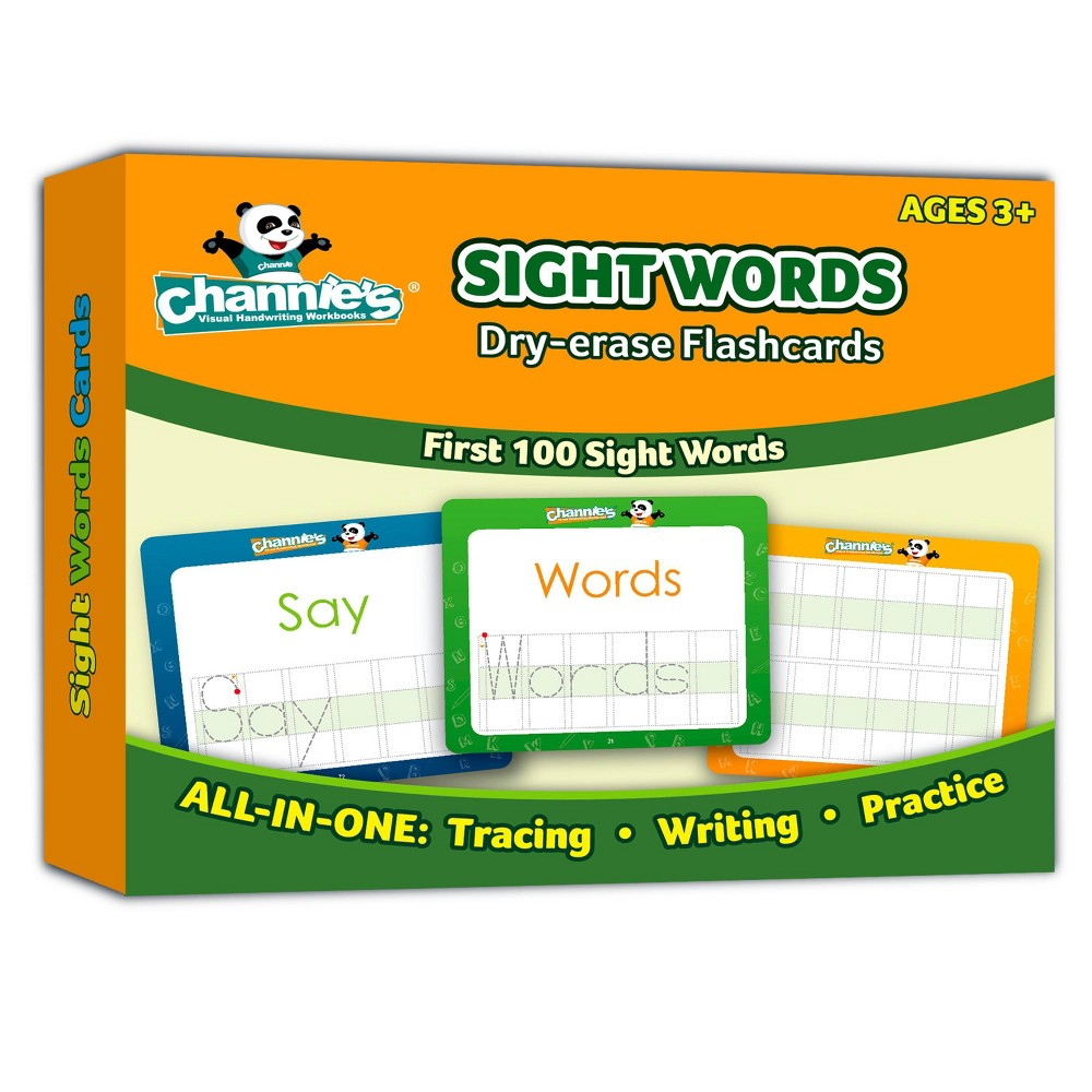 Image of Channie's Dry Erase Sight Words Flash Card
