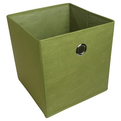 11  Fabric Cube Storage Bin Green - Room Essentials™