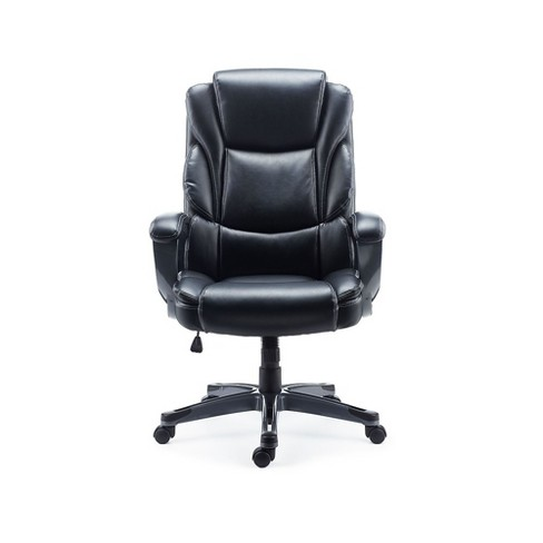 Staples Mcallum Bonded Leather Managers Chair Black 51473 Target