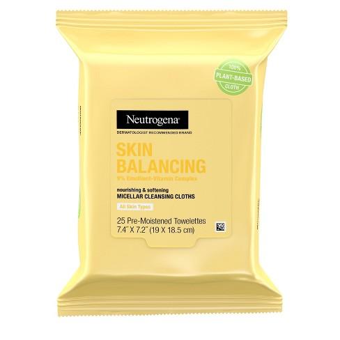 Neutrogena Skin Balancing Cleansing Towelettes - 25ct - image 1 of 4
