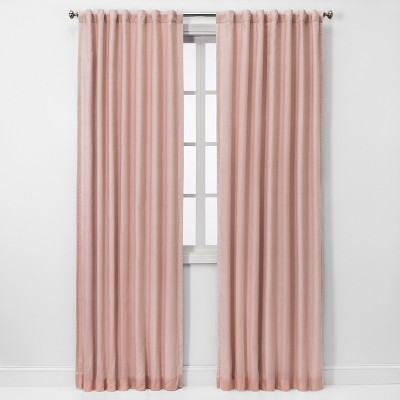 "84""x50"" Blackout Window Curtain Panel Pink - Threshold™"