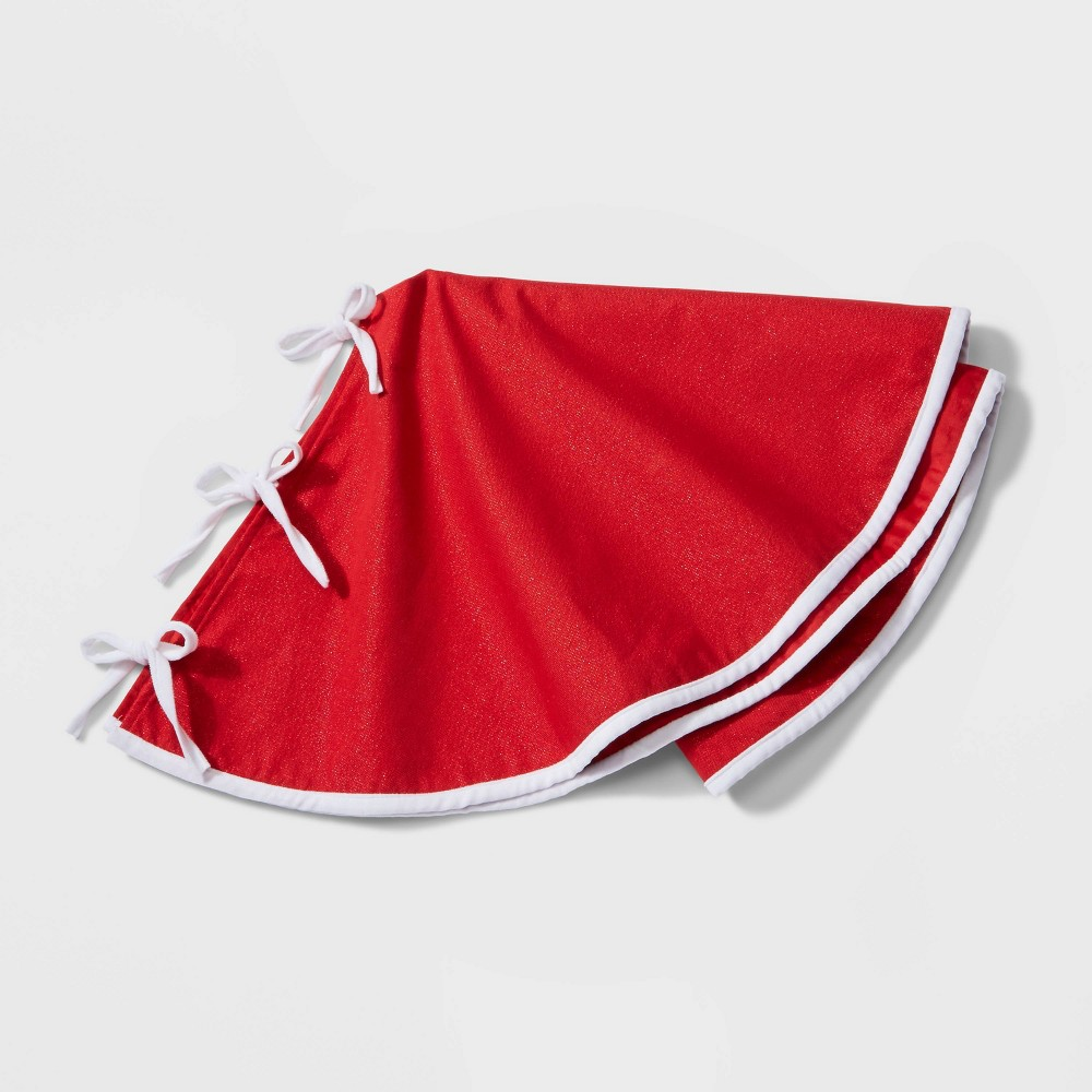"Image of ""34"""" Reversible Christmas Tree Skirt Red - Wondershop"""