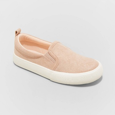 Girls' Dana Twin Gore Slip-On Sneakers - Cat & Jack™ Pink