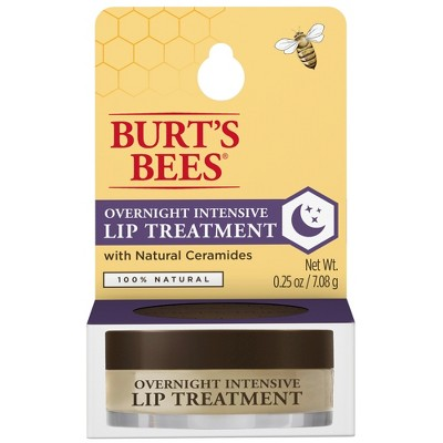 Burt's Bees Natural Overnight Intensive Lip Treatment - Ultra-Conditioning Lip Care - 0.25oz