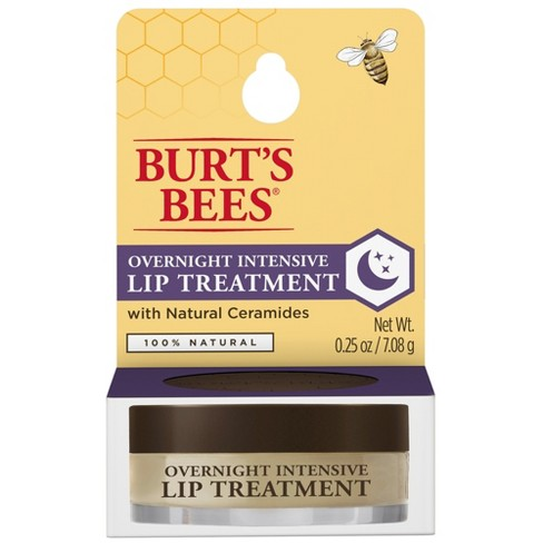 Burt's Bees Natural Overnight Intensive Lip Treatment - Ultra-Conditioning Lip Care - 0.25oz - image 1 of 6