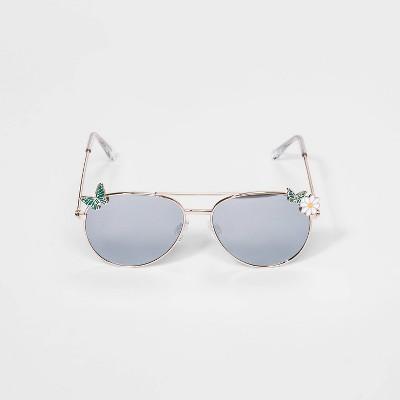 Girls' Butterfly Metal Aviator Sunglasses - Cat & Jack™ Gold