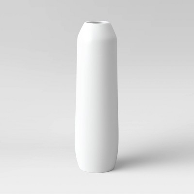 "27"" x 8"" Matte Ceramic Floor Vase White - Project 62™"