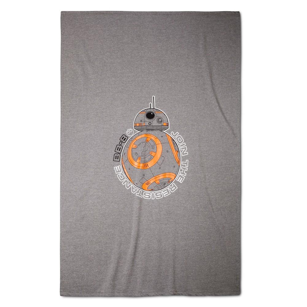 BB-8 Bed Blanket Gray & Orange - Star Wars