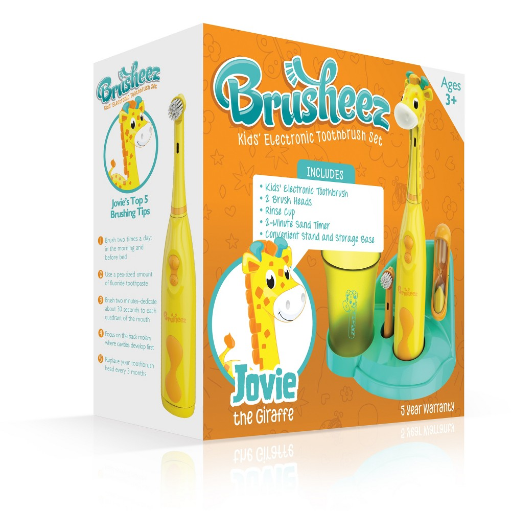 Image of Brusheez Jovie the Giraffe Children's Electronic Kids Toothbrush Set
