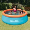 Summer Waves 8Ft X 30In Inflatable Kids Pool & 8Ft Above Ground Pool Cover - image 4 of 6