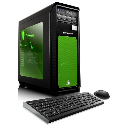 CybertronPC Celestrium GXH7400T Gaming PC with AMD FX-8350 Processor, NVIDIA GeForce GTX 1060 Graphics - Black/Green - image 1 of 4