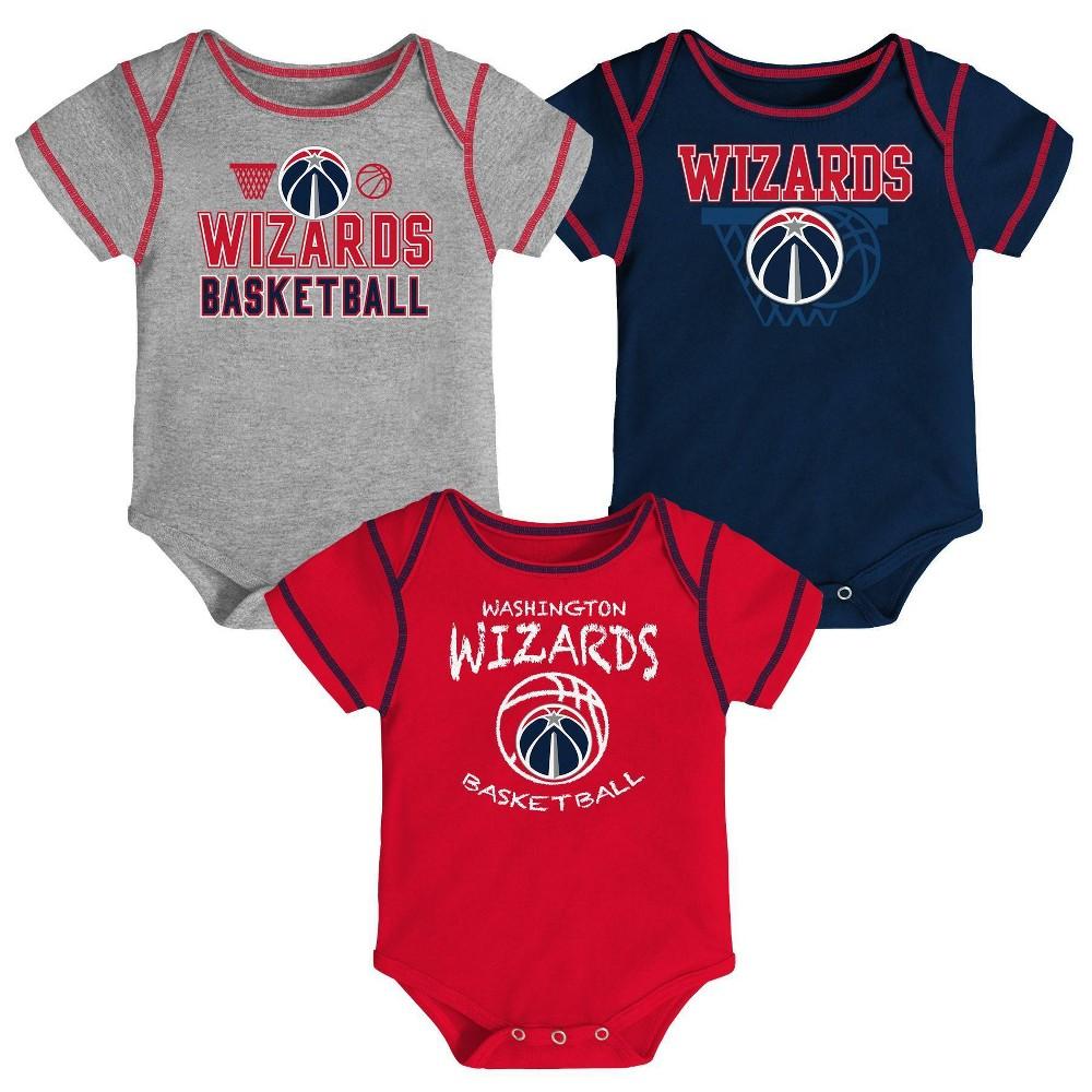 Nba Washington Wizards Baby Boys 39 Onesies Bodysuit 3pk 6 9m
