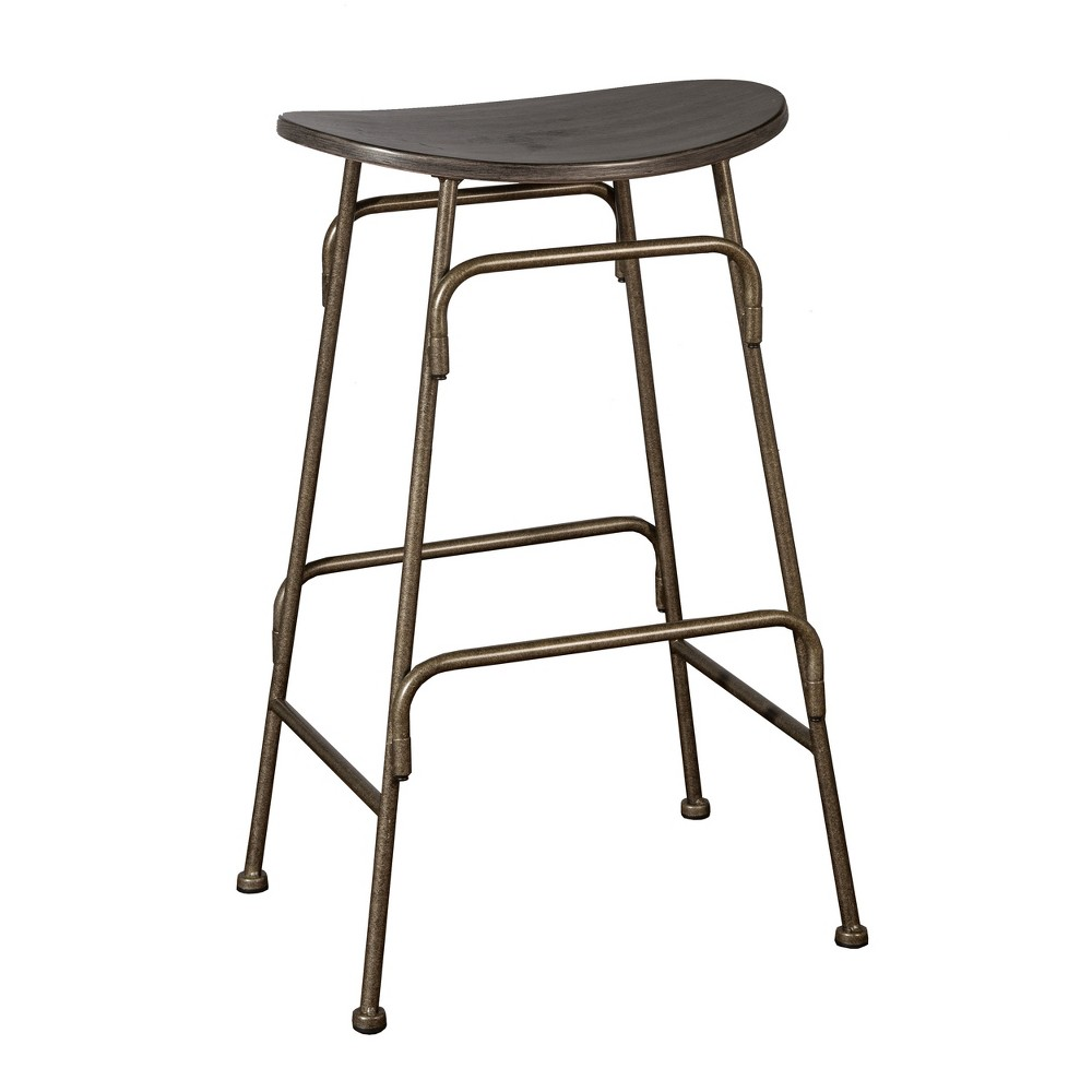 Mitchell Backless Counter Stool - Black/Old Bronze - Hillsdale Furniture