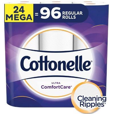 Cottonelle Ultra Comfort Care Toilet Paper - 24 Mega Rolls