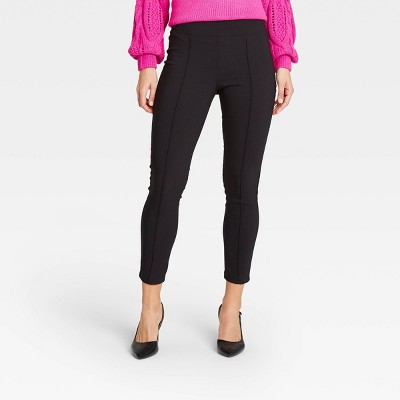 Women's Wide Waistband Skinny Ankle Pants - Who What Wear™ Black