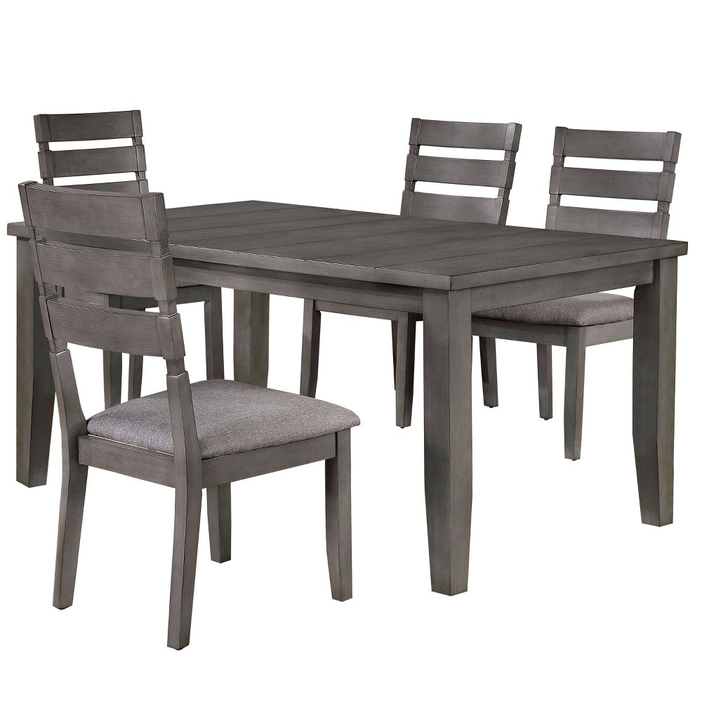 """Compare 64"""" 5pc Ainsworth Dining Set Light Gray - HOMES: Inside + Out"""