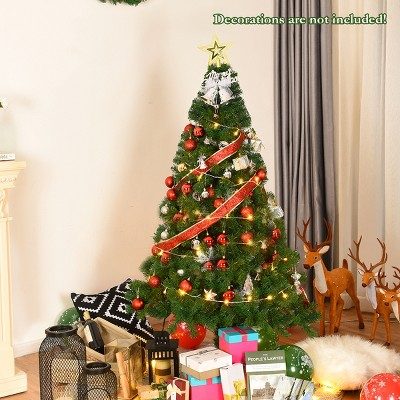 Costway 5Ft/6Ft/7Ft/8Ft Artificial PVC Christmas Tree W/Stand Holiday Season Indoor Outdoor Green
