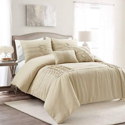 Arora Pleat Comforter Set  - Lush Décor
