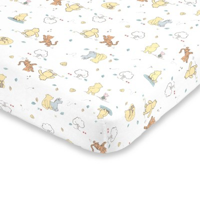 Disney Winnie The Pooh Cotton Fitted Mini Crib Sheet