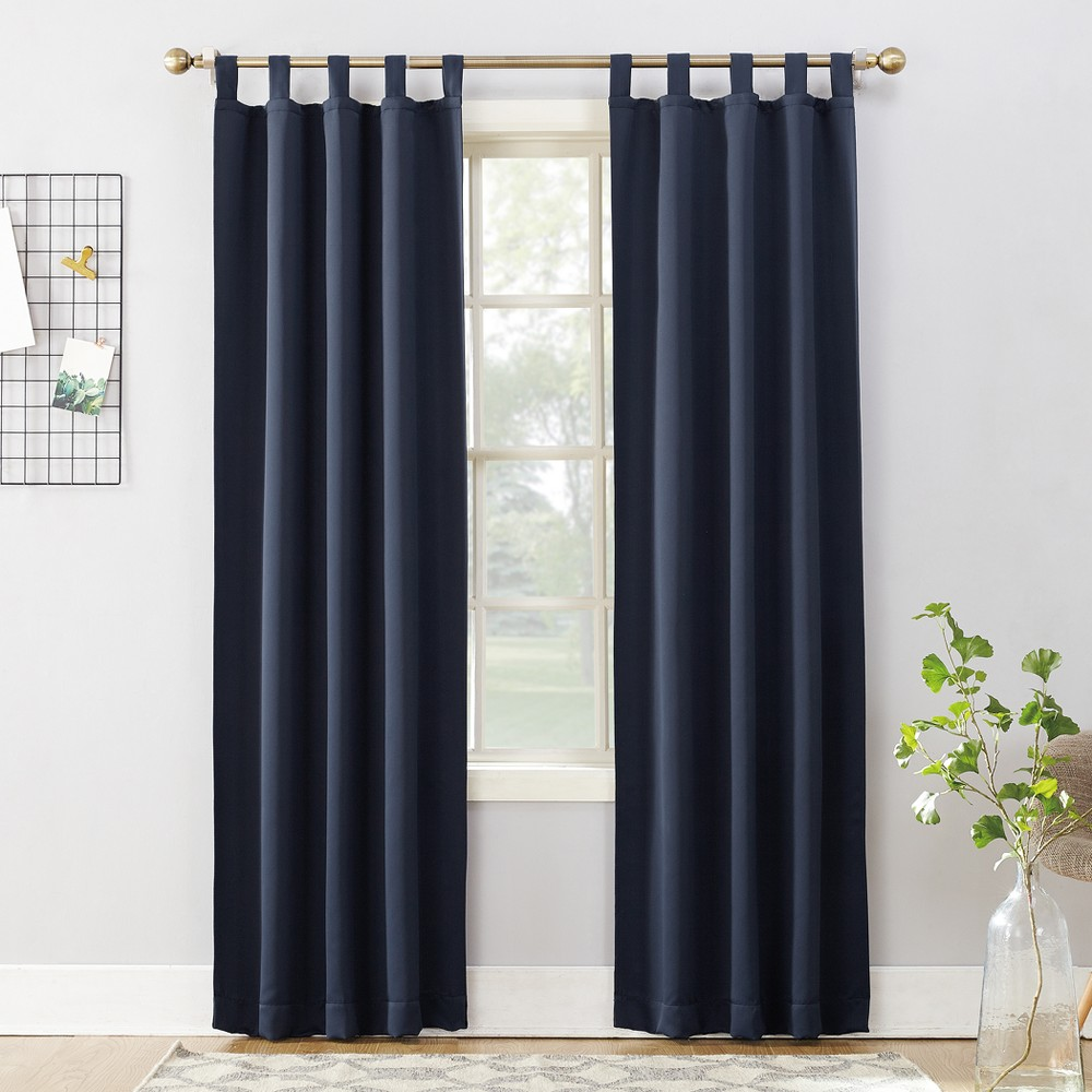 Kenneth Blackout Tab-Top Curtain Panel Navy (Blue) 40