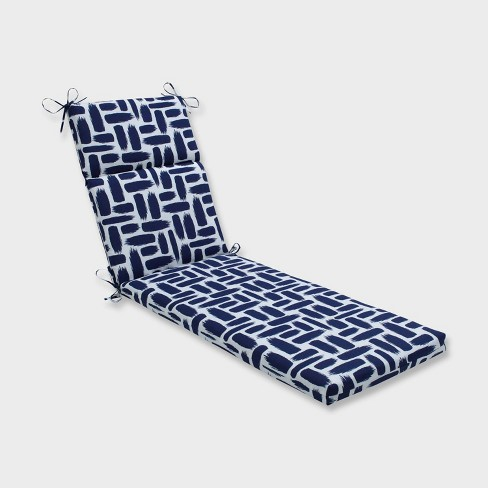 Baja Nautical Chaise Lounge Outdoor Cushion Blue - Pillow Perfect - image 1 of 2