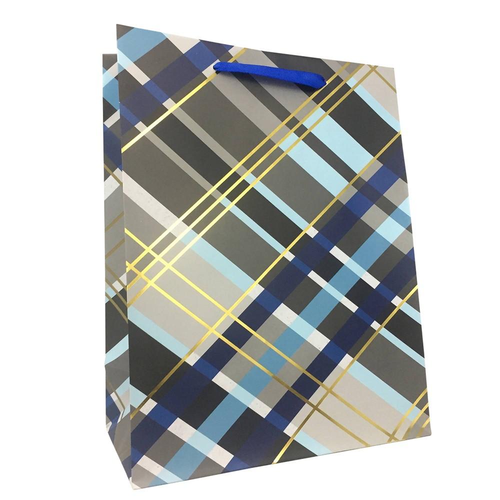 Large Plaid Cub Gift Bag - Spritz, Multi-Colored