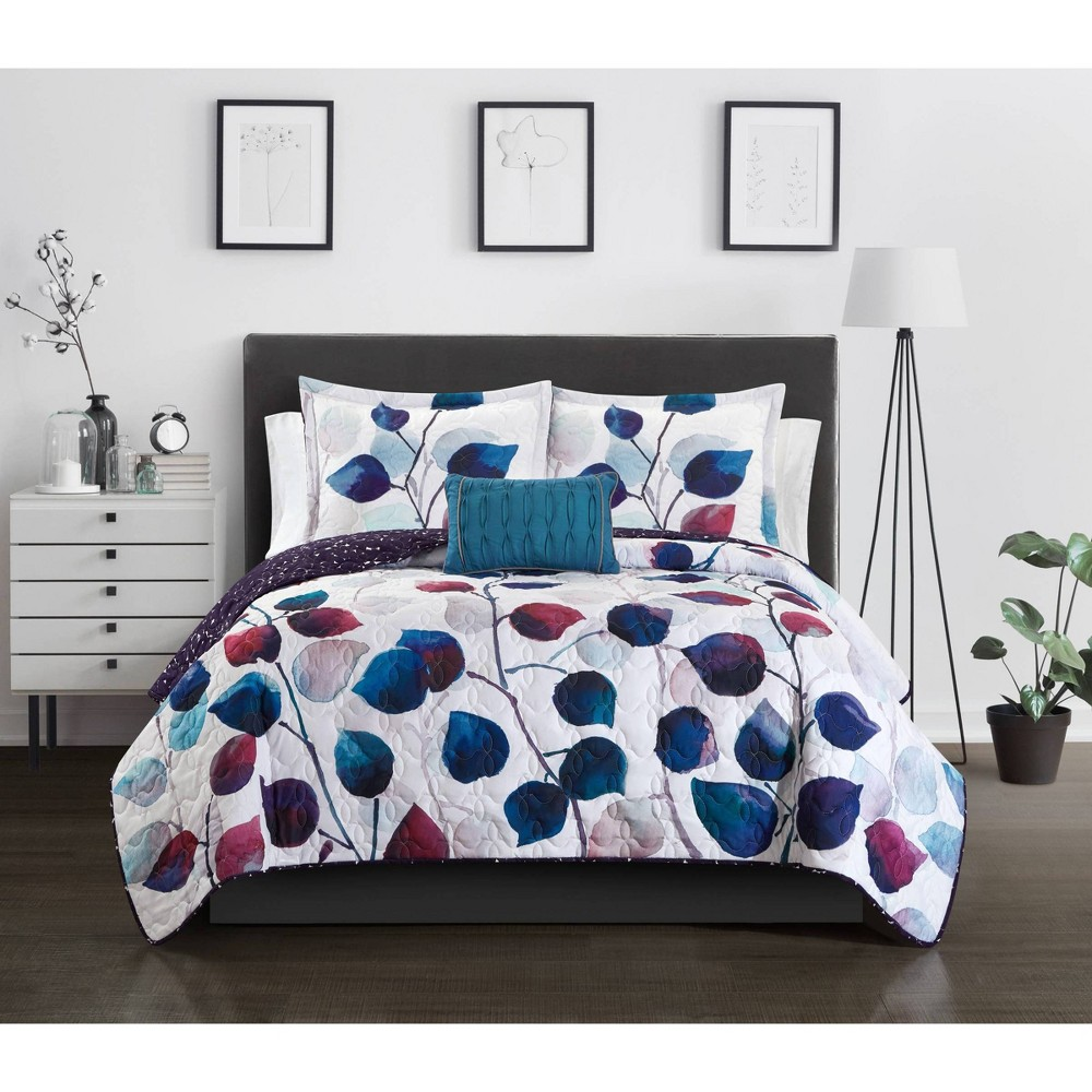 Twin Xl 6pc Megaera Bed In A Bag Quilt Set Multi Chic Home Design