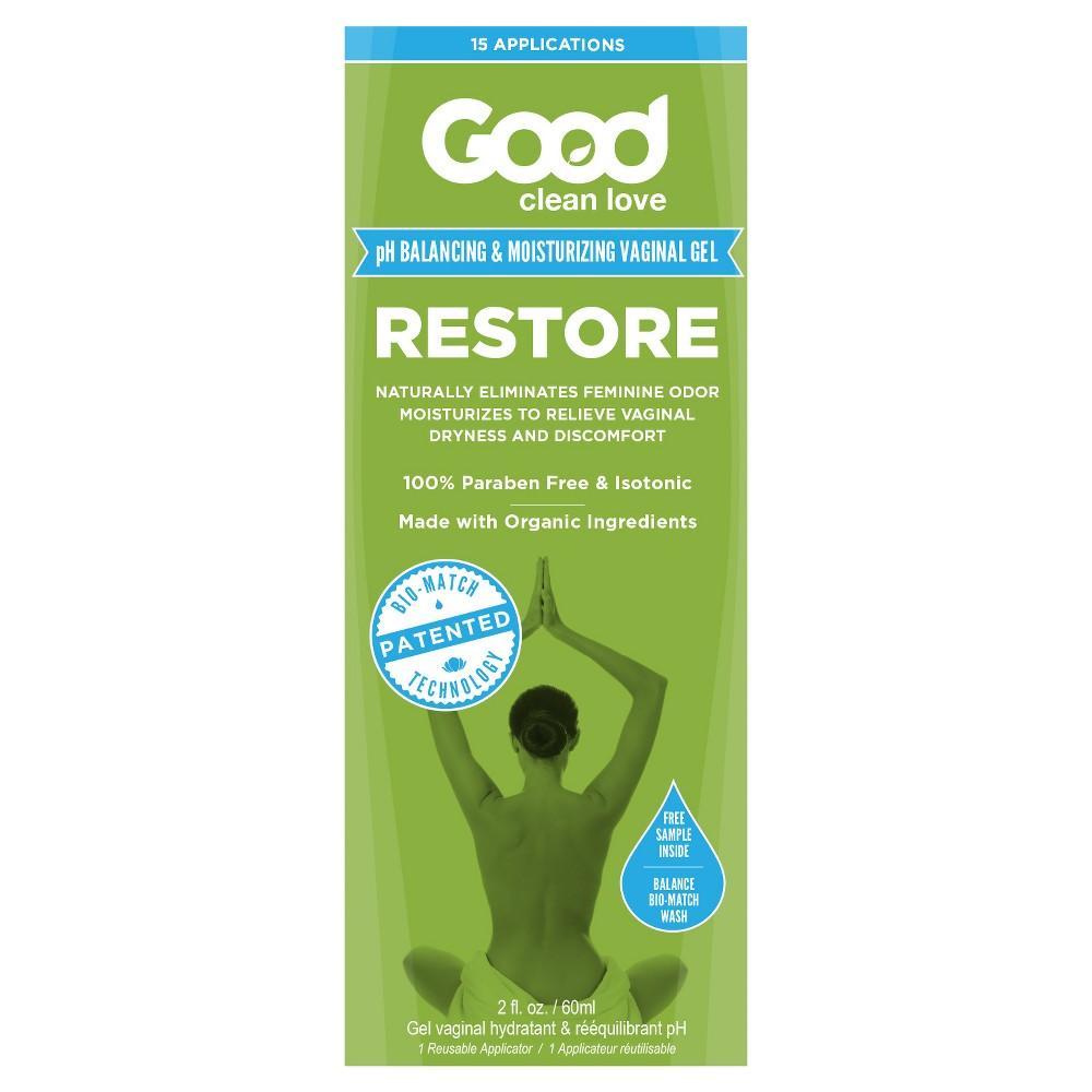 Good Clean Love Restore pH Balancing & Moisturizing Vaginal Gel Made With Organic Ingredients - 2 fl oz
