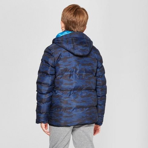 4d10da9df Boys  Printed Puffer Jacket - C9 Champion® Royal Blue   Target