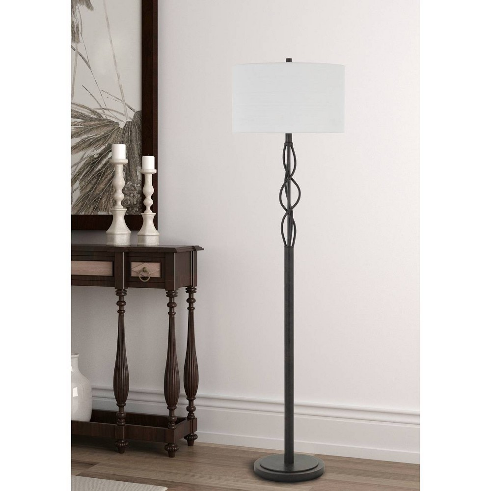 Image of 150W 3 Way Antony Metal Floor Lamp Textured Bronze - Cal Lighting