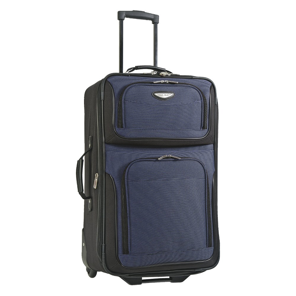 Travel Select Amerstand 21 Expandable Carry On Suitcase Navy