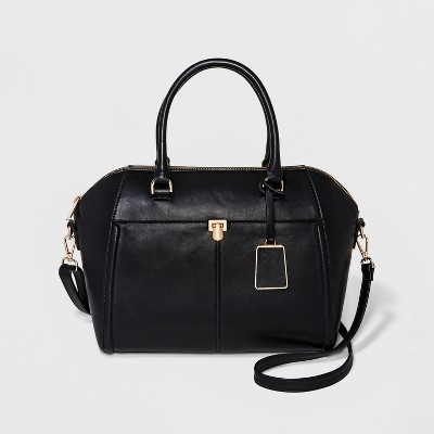 Wing Satchel With Front Pocket - A New Day™ Black