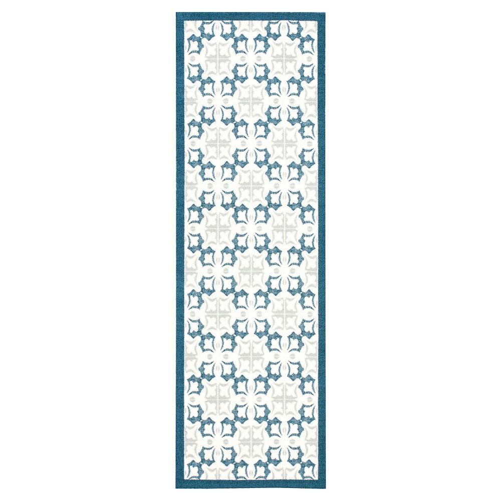 Nourison Floral Enhance Area Rug - Blue (2'6X8' Runner)