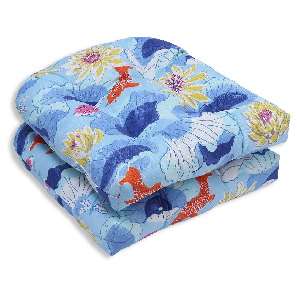 Pillow Perfect Outdoor Cushion Set - Blue