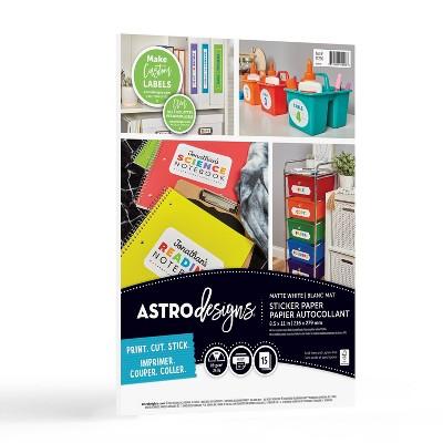 15ct Matte Sticker Paper White - Astrobrights