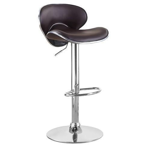 Grace Adjustable Low Back Barstool - Furniture of America - image 1 of 3
