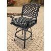 "Outdoor Seat Cushion - Black/White Geometric 19""x17"" - image 3 of 3"