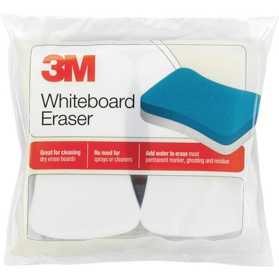 "3M Whiteboard Eraser Pads 5""x3"" 2/PK White/Blue 581WBE"