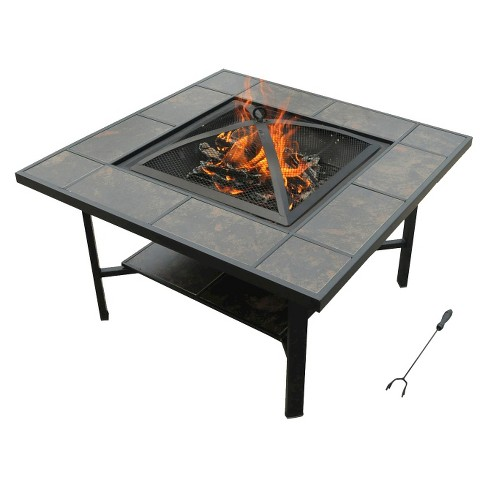 Leisurelife 4-in-1 Woodburning Firepit/Coffee Table/Grill/Cooler - image 1 of 7