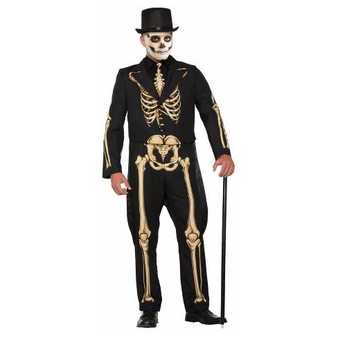 88cfc772cd58 Men's Skeleton Formal Adult Costume : Target
