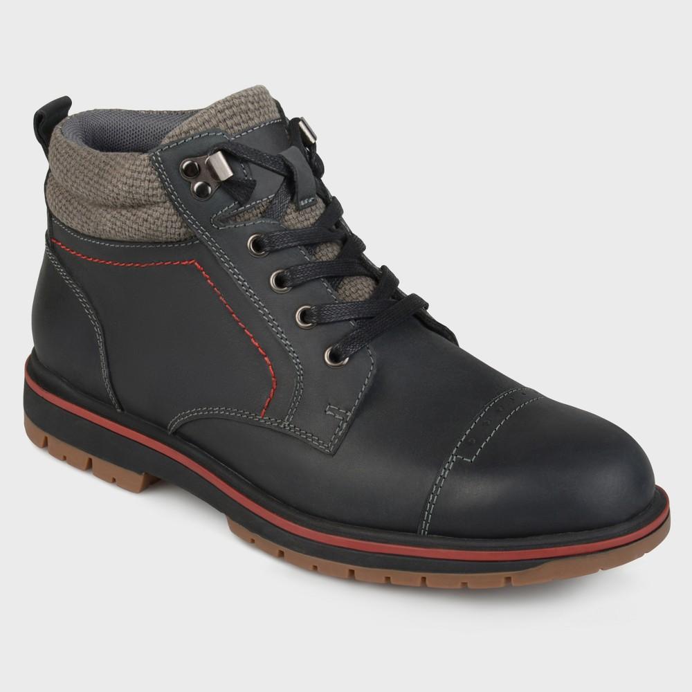 Men's Vance Co. Javor Genuine Leather Lace-UP Boots - Black 12