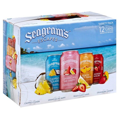 Seagram's Escapes Variety Pack - 12pk/12 fl oz Cans - image 1 of 1